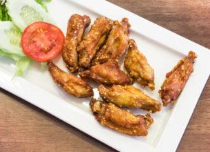 1Fried chicken wings